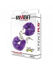 Catuse cu blanita colorata Rimba - Police Handcuffs with Purple