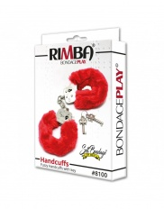 Catuse cu Blanita Rimba - Police Handcuffs with Red Fur