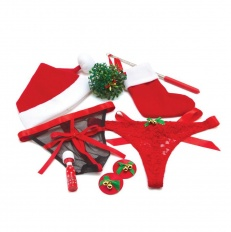 Set Sexy de Craciun BodyWand - Under the Mistletoe Gift Set 8 pc