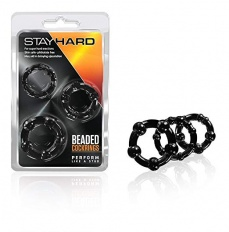 Set Inele pentru penis Stay Hard Beaded Cockrings 3 Piece Set -