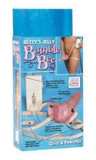 Vibrator Strap-on overs Betty's Jelly  Bumble Bee Culoarea Roz